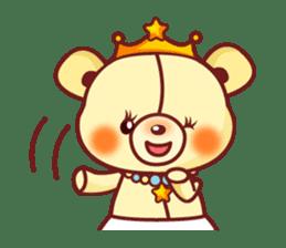 Bear Prince cute sticker sticker #484172
