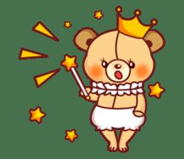Bear Prince cute sticker sticker #484178