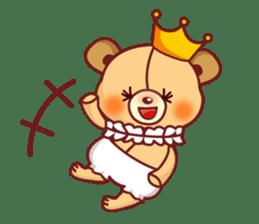 Bear Prince cute sticker sticker #484182