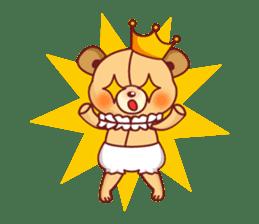 Bear Prince cute sticker sticker #484183
