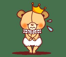 Bear Prince cute sticker sticker #484187