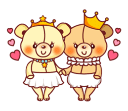 Bear Prince cute sticker sticker #484191