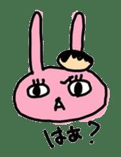 doughnut rabbit 2 sticker #485499