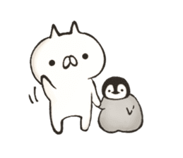 penguin and cat days sticker #486037