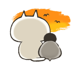 penguin and cat days sticker #486062