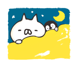 penguin and cat days sticker #486063