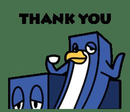 Boxy Penguin(English version) sticker #487609