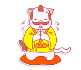 SAMURAI CAT sticker #487860