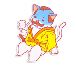 SAMURAI CAT sticker #487862