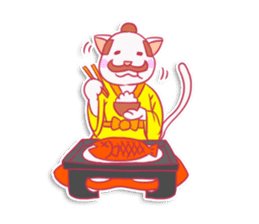 SAMURAI CAT sticker #487866