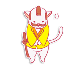 SAMURAI CAT sticker #487867
