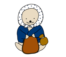 Sea otter's daily life sticker #487881