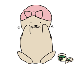 Sea otter's daily life sticker #487882