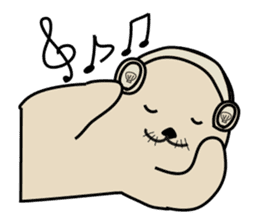 Sea otter's daily life sticker #487894