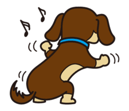 Dog Stamp vol.3 Dachshund sticker #488161