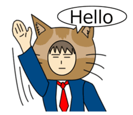 Cat salaryman(English version) sticker #489314