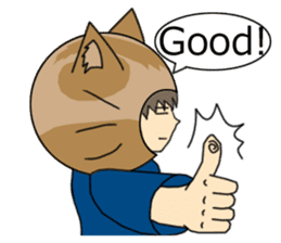 Cat salaryman(English version) sticker #489315