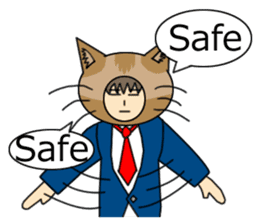 Cat salaryman(English version) sticker #489316