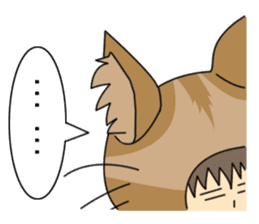 Cat salaryman(English version) sticker #489320