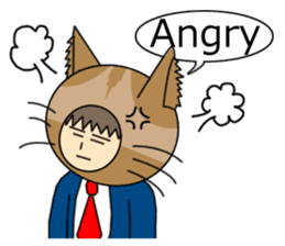 Cat salaryman(English version) sticker #489327