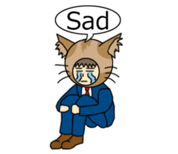 Cat salaryman(English version) sticker #489329