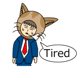 Cat salaryman(English version) sticker #489331