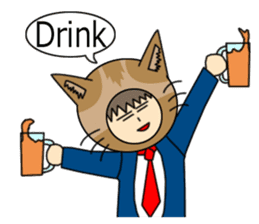 Cat salaryman(English version) sticker #489337