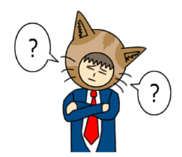 Cat salaryman(English version) sticker #489340