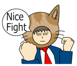 Cat salaryman(English version) sticker #489342