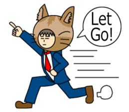 Cat salaryman(English version) sticker #489343