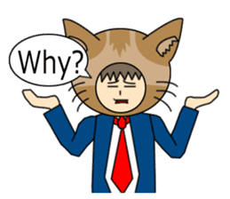 Cat salaryman(English version) sticker #489345