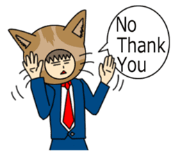 Cat salaryman(English version) sticker #489353