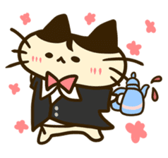 Butler of the cat sticker #489652