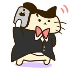 Butler of the cat sticker #489655