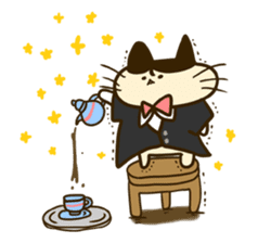 Butler of the cat sticker #489657
