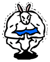 Muscular Rabbit sticker #489831