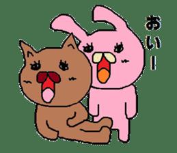 Rabbit Suzuki and Tanuki Sato sticker #491147
