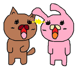 Rabbit Suzuki and Tanuki Sato sticker #491148