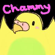 สติ๊กเกอร์ไลน์ Friends of Chami parakeet