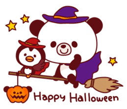 Panda(ponyan)&Puffin(Puffy)Autumn&winter sticker #492598