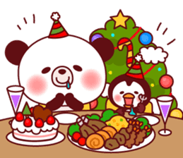 Panda(ponyan)&Puffin(Puffy)Autumn&winter sticker #492605
