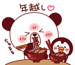 Panda(ponyan)&Puffin(Puffy)Autumn&winter sticker #492610