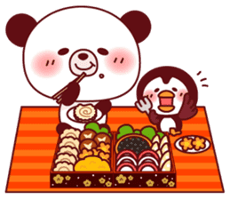 Panda(ponyan)&Puffin(Puffy)Autumn&winter sticker #492614