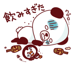 Panda(ponyan)&Puffin(Puffy)Autumn&winter sticker #492619