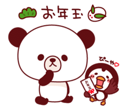 Panda(ponyan)&Puffin(Puffy)Autumn&winter sticker #492620