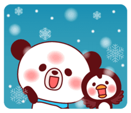 Panda(ponyan)&Puffin(Puffy)Autumn&winter sticker #492626