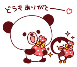 Panda(ponyan)&Puffin(Puffy)Autumn&winter sticker #492630