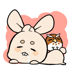 Mameta the Rabbit & Horosuke the Owl