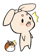 Mameta the Rabbit & Horosuke the Owl sticker #493206