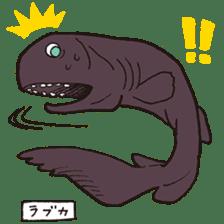 Deep-sea fish charaters sticker #495759